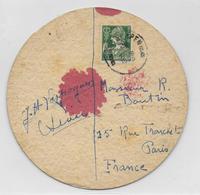 BELGIQUE - 1935 - SOUS BOCK DE BIERE TUBORG EXPEDIE De ANTWERPEN => PARIS - Belgique