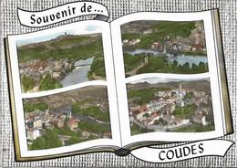 CPSM. COUDES. SOUVENIR. 4 VUES. LIVRE OUVERT. 1973. - Autres Communes