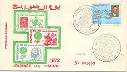 MAROC - FDC JOURNEE DU TIMBRE 1972 - CASABLANCA 27.4.1972  / 2 - Maroc (1956-...)