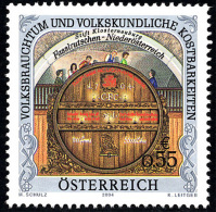 AUSTRIA ÖSTERREICH 2004 Volksbrauchtum Und Volkskundliche Kostbarkeiten: Fasslrutschen  MNH / ** / POSTFRISCH - 1945-.... 2. Republik