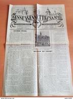 Ecaussinnes,braine Le Comte ,soignies  :2 Numéros Le (4) 31/07/1954 Et (10) 11/09/1954 Journal Senne Sennette Samme - Cultura