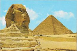 GIZA - The Great Sphinx And Kheops Pyramid - Pyramides