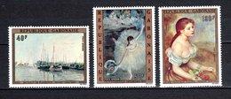 GABON PA N° 146 à 148  NEUFS SANS CHARNIERE COTE 14.00€  TABLEAUX  BATEAUX - Gabon (1960-...)