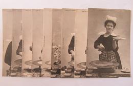 Série De CPA Fantaisies - Comment On Fait Une Crêpe Bretonne - Série Complète (9 Cartes Postales Non-circulées) - Costumes