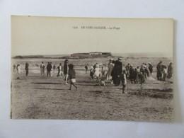 Ploemeur N°1356 - Le Fort Bloqué - La Plage - Carte Animée, Non-circulée - Ploemeur