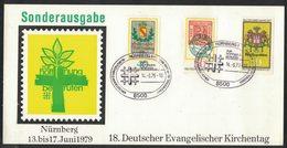 E78   Germany 1979 - Deutscher Evangelischer Kirchentag Card And Special Postmark - Religioni