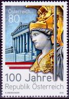 Austria Österreich 2018  100 Jahre Republik Österreich.  MNH / ** / POSTFRISCH - 1945-.... 2. Republik