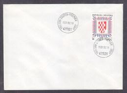 Croatia 1992 Coat Of Arms Of Croatia FDC - Kroatië