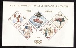 MONACO Bloc Spécial J.O. O.G. 1964 TOKYO € 915.00 ** - Blocs