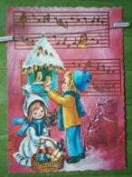 Kov 8-129 - NEW YEAR, BONNE ANNEE, CHILDREN, ENFANT, Music, Bird, Oiseau - Nouvel An