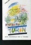 Vieux Papiers - Dépliant En Allemand Avec Plan De Turin -Torino - Cartes Routières