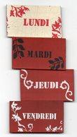 MAGNET   JOURS DE LA SEMAINE   LUNDI MARDI JEUDI VENDREDI - Magnets