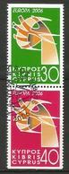 Zypern  2006  Mi.Nr. 1074 / 1075 D , EUROPA CEPT  Integration - Gestempelt / Fine Used / (o) - 2006