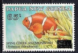Papua New Guinea 1994 - Fish - Surcharged Mint - Papúa Nueva Guinea