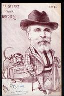 Illustrateur Rostro, Depart Pour Londres ( Tiré à 250 Exemplaires Seulement) - Illustrateurs & Photographes