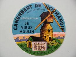 Etiquette Camembert - Le Vieux Moulin - Fromagerie De Barbeville Par Isigny 14 Normandie - Calvados  A Voir ! - Quesos