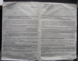 DH. 62. Armée Secrète. Attestation De Reconnaissance De La Qualité De Résistant Armé, Médailles - Documents
