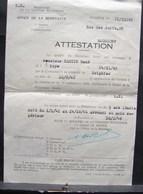 DH. 55. Ministère De La Défense, Office De La Résistance. Attestation De Résistant Armé Pendant 3 Ans Et 10 Mois - Documents