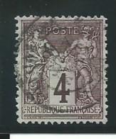 FRANCE: Obl., N° YT 88b, T.II, Lilas Foncé Sur Azuré,  Tb Centré, TB - 1876-1898 Sage (Type II)