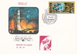 SOYUZ T-8, 1er Jour 22-04-83 - FDC & Commemoratives