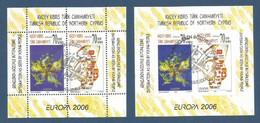 Türkisch-Zypern  2006  Mi.Nr. Block 25 A + Block 25 B , EUROPA CEPT  Integration - Gestempelt / Fine Used / (o) - 2006