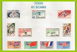 Collection TOGO 61 SCANS (1960 à 1977) (cote 930 Euros) TP, PA * MH Et Blocs Dt ND ** MNH (à Profiter) TB ! - Colecciones (en álbumes)
