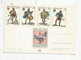 Timbre , SAINT MARIN,  SAN MARINO ,  50 ,20 ,15 ,10 ,5 ,  5 Timbres Neufs Sur Carte Postale, 2 Scans - Saint-Marin