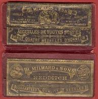 ** ETUI  AIGUILLES  H.  MILWARD  1889 ** - Dés à Coudre