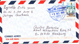 Guatemala Air Mail Cover Sent To Germany 3-10-2000 Single Franked - Guatemala