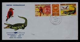 Empire Centrafricain BANGUI Fdc 1978 Crocodile ESSEN 78 Philexafrique Libreville Faune Animals Bullfight Sp5782 - Birds