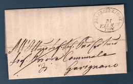 Prefilatelica  Da Valmontone  Per Gavignano (p.7) - ...-1850 Préphilatélie