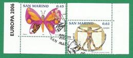 San Marino  2006  Mi.Nr. 2261 / 2262 , EUROPA CEPT  Integration - Gestempelt / Fine Used / (o) - 2006