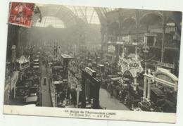 BELLE CARTE PHOTO  PARIS 11e Salon De L'Automobile (1908) La Grande Nef (Eclairage électrique) - Frankrijk
