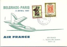 1er VOL AIR FRANCE BELGRADE-PARIS 5.4.1967     / 3 - Avions