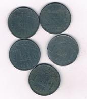 5 X 1 FRANC 1942-1946 BELGIE /3415/ - 1934-1945: Leopold III