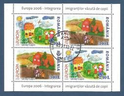 Rumänien / Romania  2006  Mi.Nr. Block 374 I , EUROPA CEPT  Integration - Gestempelt / Fine Used / (o) - 2006