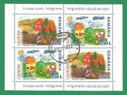 Rumänien / Romania  2006  Mi.Nr. Block 374 II , EUROPA CEPT  Integration - Gestempelt / Fine Used / (o) - 2006