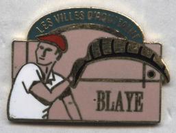 Pin's Pelote Basque Blaye Aquitaine - Pin's