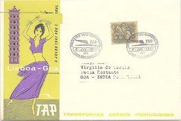 1er VOL TRANSPORTES AEREOS PPORTUGUESES  LISBOA-GOA 8 JUL 1961   / 3 - Aviones