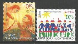 Montenegro  2006  Mi.Nr. 125 / 126 , EUROPA CEPT  Integration - Gestempelt / Fine Used / (o) - 2006