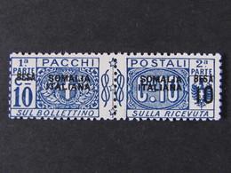 """ITALIA Colonie Somalia Pacchi -1923- """"Nodo"""" B 10 Su 10 MNH** (descrizione) - Somalia"""