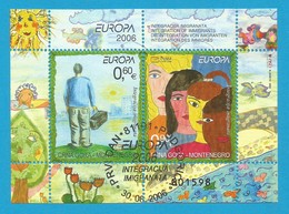 Montenegro  2006  Mi.Nr. Block 5 (127/128) , EUROPA CEPT  Integration - Gestempelt / Fine Used / (o) - 2006