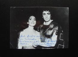 Autografo Franco Corelli Tenore Fotografia Originale Con Maria Callas Norma 1988 - Autographes