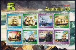 Papua New Guinea 1999 - Nternational Stamp Exhibition Australia '99 - Melbourne, Australia - Ships Mint - Papúa Nueva Guinea