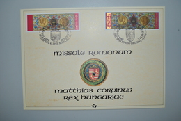 Hongrie/Belgique 1993 Carte-souvenir Missale Romanum - Feuillets Souvenir