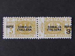 """ITALIA Colonie Somalia Pacchi -1923- """"Nodo"""" R. 3 Su 3 MH* (descrizione) - Somalia"""