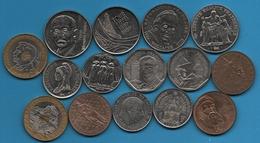 FRANCE LOT MONNAIES 15 COINS COMMÉMORATIVES - Commemorative