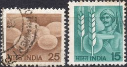INDIA 1979/1981 - AGRICOLTURA POLLAME + MAIS - 2 VALORI USATI - India