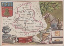 Chromos - Chromo Géographie - Publicité Département Haute-Vienne - Blason - Spécialités - Chromos