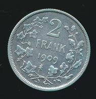 BELGIE  2 FRANK  1909  LEOPOLD II  SUPER    -  ZIE 2 AFBEELDINGEN - 1865-1909: Leopold II